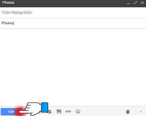 Lúc này, hình ảnh đã được đính kèm trong mail, bạn nhấn gửi là được.