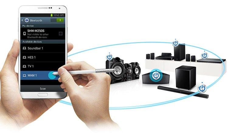 Bạn có thể điều khiển dàn âm thanh Samsung MX-HS7000/XV từ xa qua smartphone