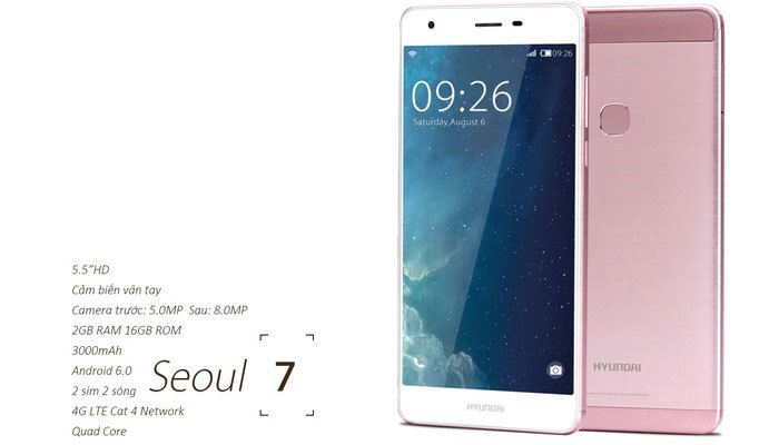 Chiếc điện thoại Seoul 7 thì có cấu hình 2GB