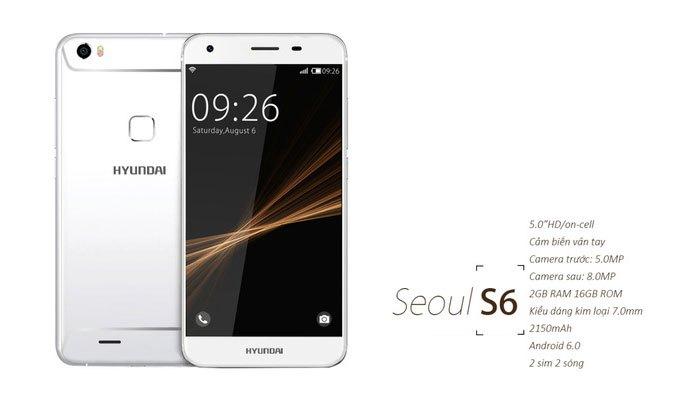 Điện thoại Seoul 6 có thiết kế nhỏ gọn, kiểu dáng kim loại
