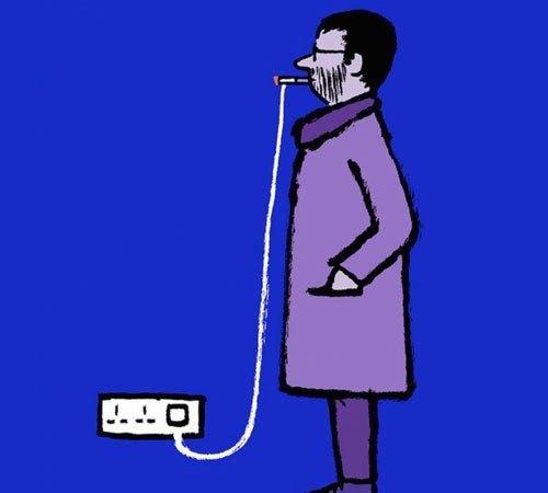 Thời đại công nghệ, đến hút thuốc cũng có thể sạc pin.