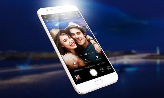 Điện thoại Vivo V5 plus sở hữu camera kép mặt trước có khả năng xóa phông cực đỉnh