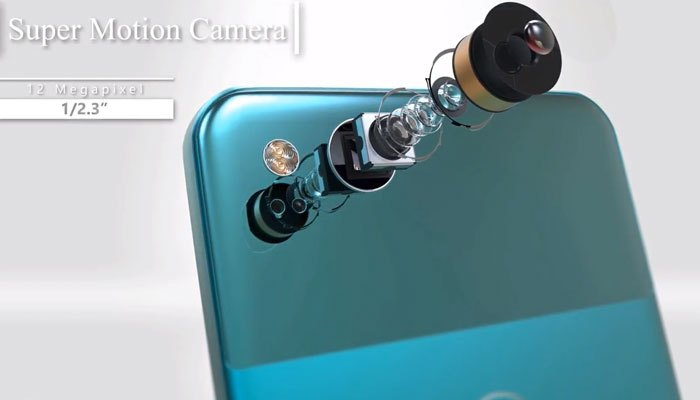 Camera sau của điện thoại Google Pixel 2 XL có độ phân giản 12 MP với kích thước cảm biến 1/2.3 inch.