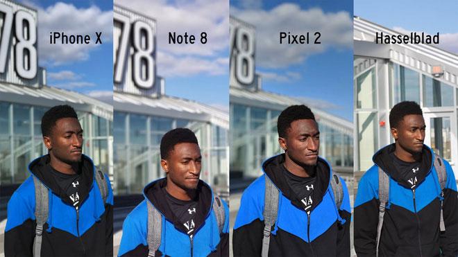 Kết quả thử nghiệm cho thấy, hình ảnh từ các điện thoại là khác nhau