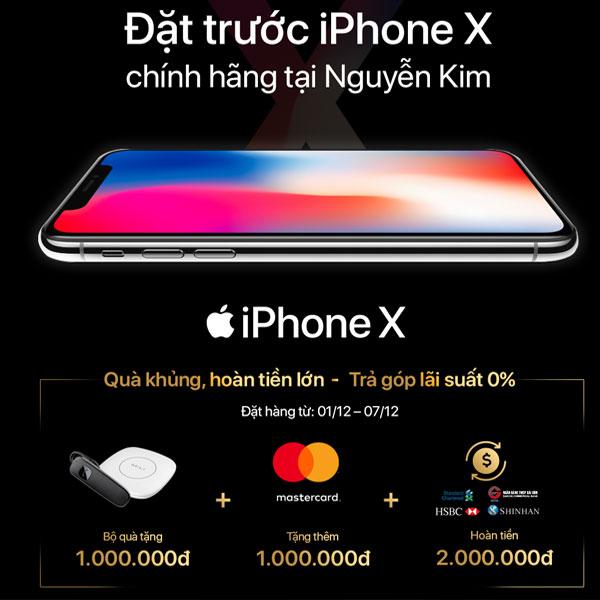 Nhiều ưu đãi hấp dẫn dành tặng cho bạn khi tham gia chương trình Pre-order iPhone X tại Nguyễn Kim