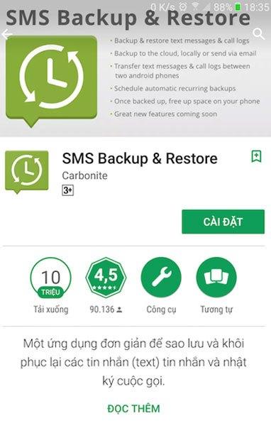 Ứng dụng khôi phục tin nhắn trên điện thoại không cần dùng máy tính
