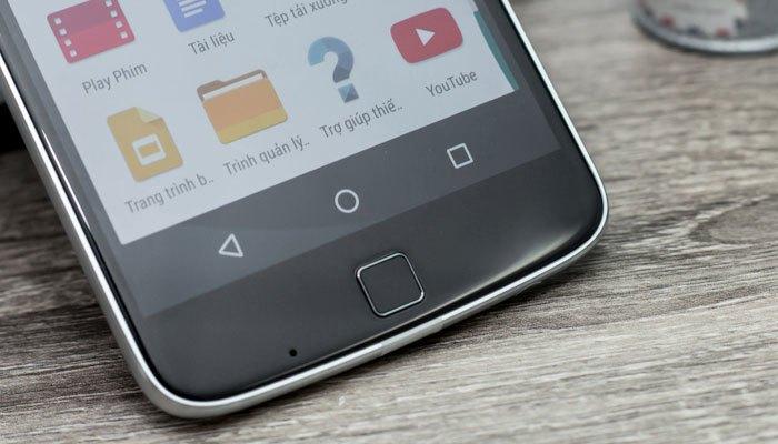 Nút Home cảm biến vân tay trên điện thoại Moto Z Play