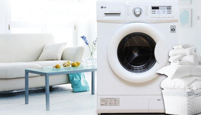 Máy giặt LG 7 KG F1207NMPW với lồng máy có sức chứa rộng