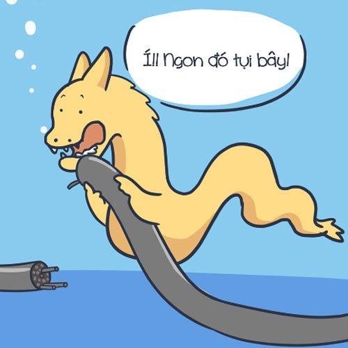 Rồng Pikachu - nhân vật mới nổi là thủ phạm gây ra hàng loạt vụ đứt cáp gần đây