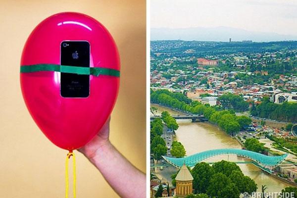 Để chụp được bức ảnh ở cự ly rất cao, cách thông dụng nhất là sử dụng máy bay không người lái (drone), nhưng giá bán của nó không hề rẻ. Bạn cũng có thể đứng ở nơi cao để chụp (núi, tòa nhà chọc trời, máy bay...) nhưng không phải khi nào cũng làm được điều này. Thay vào đó, cách đơn giản hơn là sử dụng bóng bay, gắn chặt smartphone vào đó, sử dụng khả năng chụp qua Bluetooth hoặc hẹn giờ chụp. Tuy vậy, bạn cũng nên bật sẵn tính năng định vị smartphone, phòng trường hợp máy... bay mất.