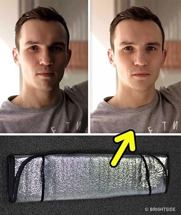 Nếu có thể, hãy sử dụng hắt sáng hoặc những vật dụng có chức năng tương tự. Khi đó, bức ảnh sẽ nhận đủ ánh sáng hơn và tất nhiên là đẹp hơn, trừ trường hợp người chụp có chủ ý khác.