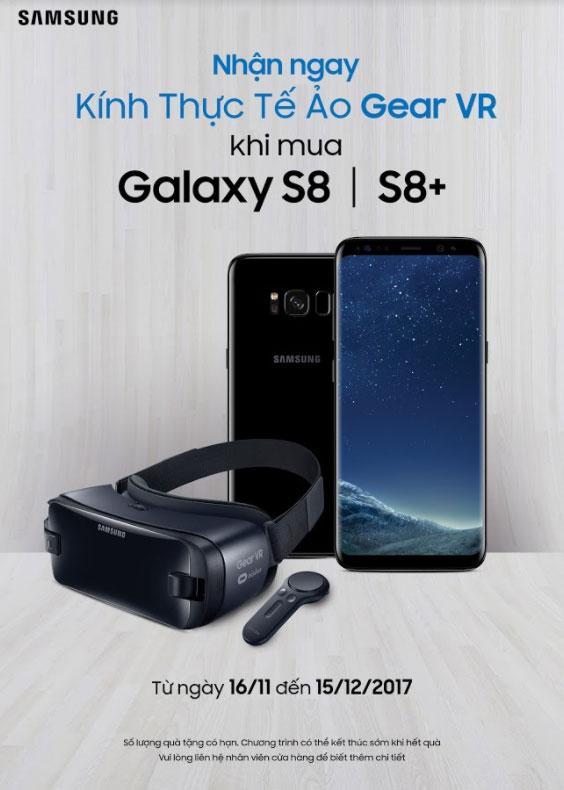 Mua Galaxy S8/S8 Plus tại Nguyễn Kim, nhận ngaykính thực tế ảo Gear VR