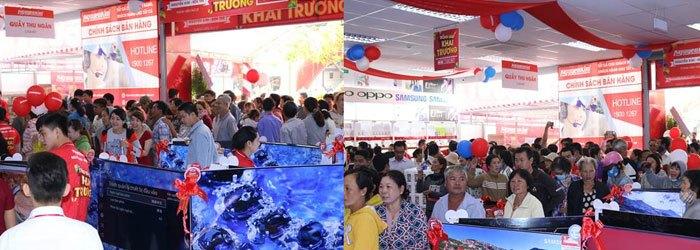 Khách hàng đến tham quan và mua sm tấp nập tại Nguyễn Kim Bến Tre