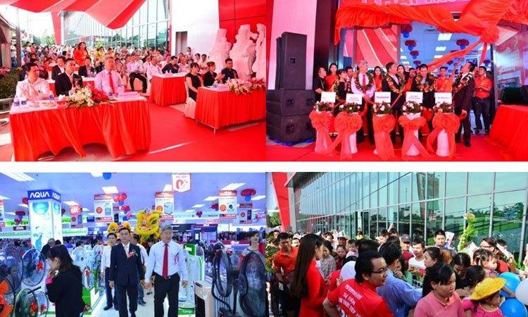 Trung tâm mua sắm Nguyễn Kim Dĩ An tấp nập khách hàng sau giờ khai trương