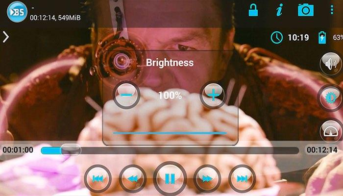 Phần mềm BSPlayer dễ dàng tủy chỉnh với các tính năng phô bày sẵn trên màn hình chính