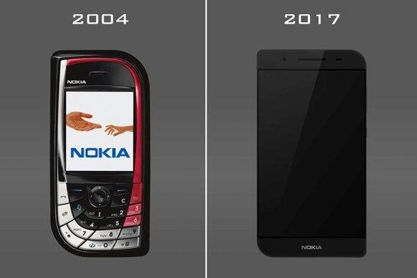 So sánh điện thoại Nokia 7610 ở hai phiên bản