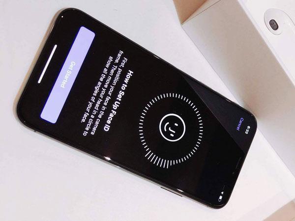 Chuẩn bị cài đặt Face ID trên iPhone X