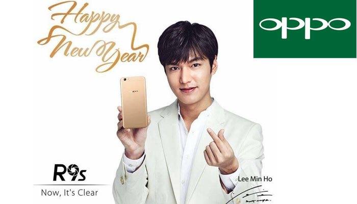 Đón năm mới cùng điện thoại OPPO R9s Lee Min Ho làm đại diện nào các nàng ơi!