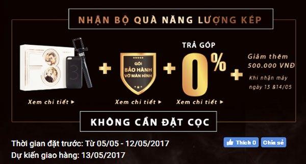 Quà tặng và ưu đãi hấp dẫn khi đặt mua điện thoại OPPO F3 tại Nguyễn Kim