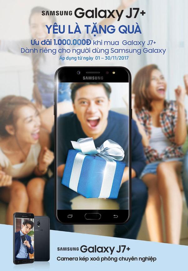 Cơ hội mua điện thoại Samsung Galaxy J7+ với mức giá hời ngay trong tầm tay