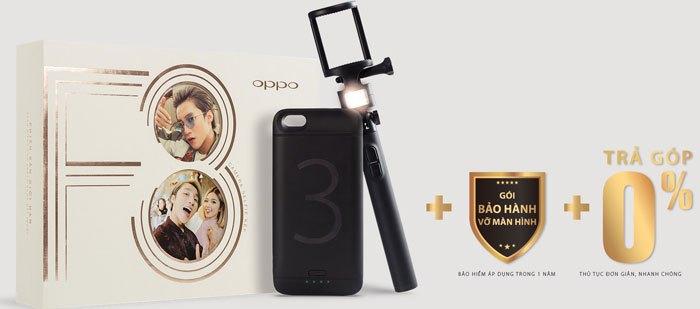 Bộ quà tặng hấp dẫn dành cho bạn khi đặt trước chiếc điện thoại Oppo F3