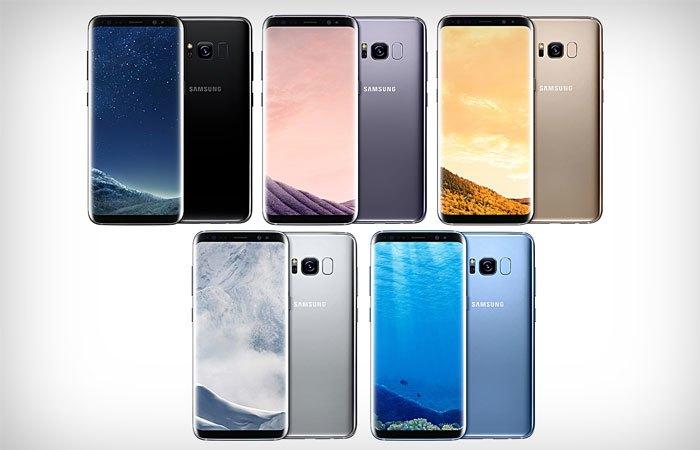 Rất nhiều phiên bản màu được trang bị trên điện thoại Galaxy S8