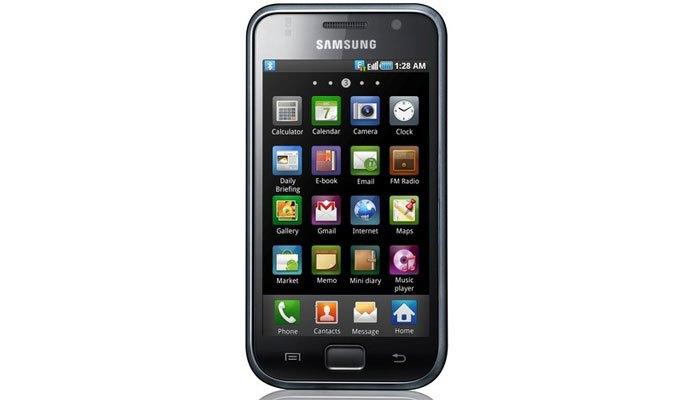 Icon với hiệu ứng 3D nổi bật trên điện thoại Galaxy S1