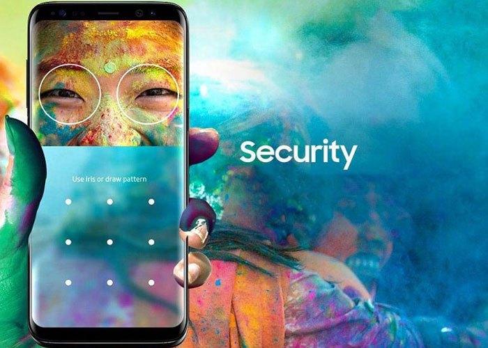 Điện thoại Galaxy S8 được trang bị công nghệ mở khóa bằng mống mắt nâng cao tính năng bảo mật