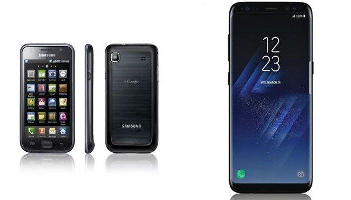 Đời điện thoại Galaxy S thứ 8 với nhiều trang bị hiện đại hơn nhiều so với thế hệ đầu tiên