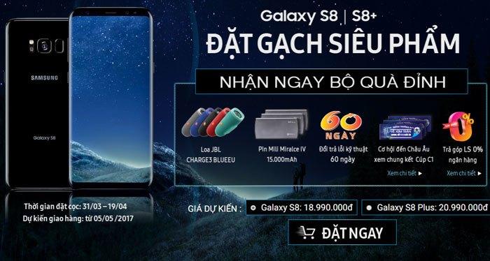Đặt trước Galaxy S8/S8 Plus nhận quà siêu hoành tráng