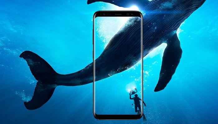 Màn hình vô cực của điện thoại Galaxy S8 mở rộng khung hình