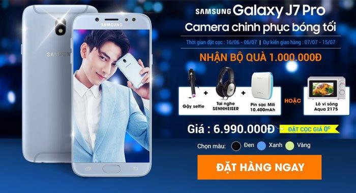 Quà tặng hấp dẫn khi đặt trước điện thoại Galaxy J7 Pro tại Nguyễn Kim