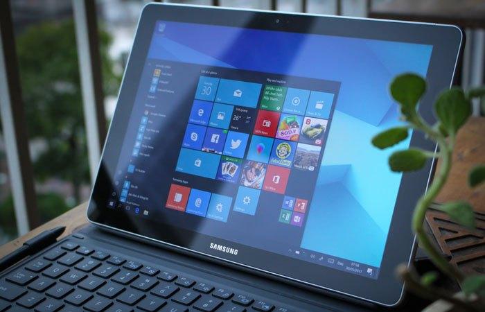 Màn hình máy tính bảng Galaxy Book to và hiển thị rõ nét