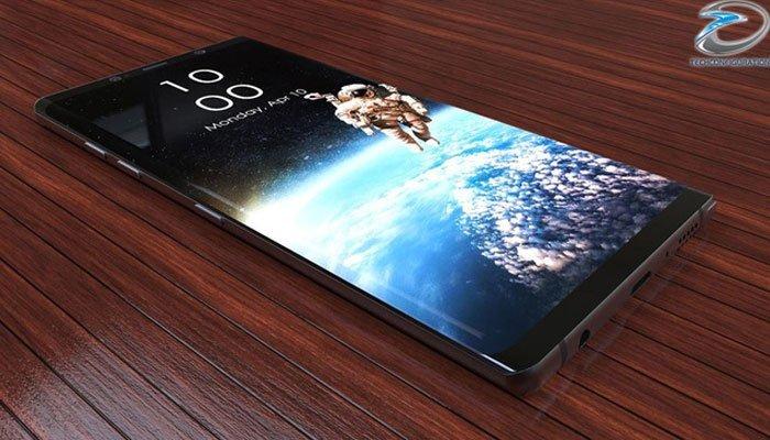 Concept điện thoại Galaxy Note 8 đẹp lung linh