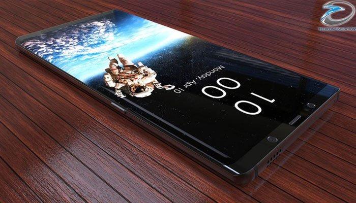 Điện thoại Galaxy Note 8 các góc được bo tròn