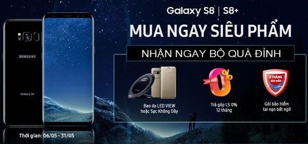 Quà tặng và ưu đãi khi bạn mua điện thoại Galaxy S8/S8 Plus tại Nguyễn Kim