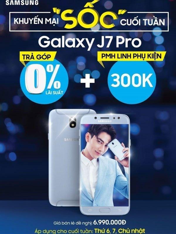 Nhiều ưu đãi hấp dẫn được triển khai dành cho khách hàng mua điện thoại Galaxy J7 Pro tại Nguyễn Kim