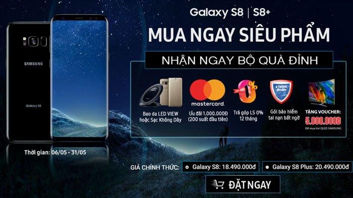 Ưu đãi hấp dẫn khi mua điện thoại Samsung Galaxy S8/S8 Plus tại Nguyễn Kim