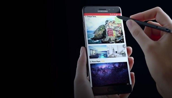 Chiếc điện thoại Galaxy S8 trên thử nghiệm