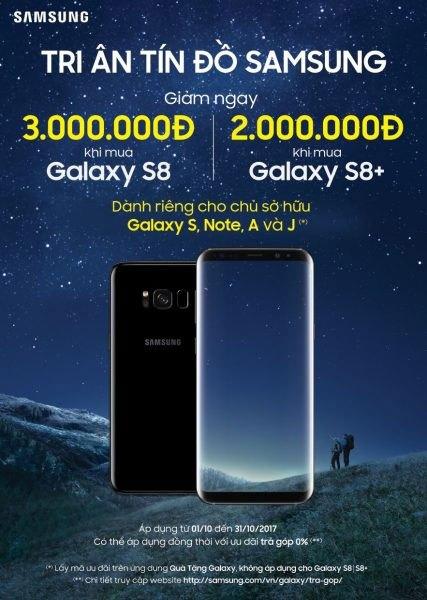 Samsung tri ân tín đồ của mình khi mua Galaxy S8