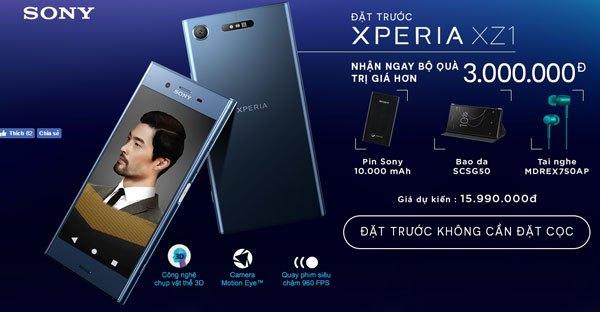 Đặt ngay Sony Xperia XZ1 để rinh về bộ quà tặng siêu đẳng cấp nhé!