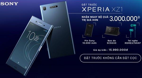 Bộ quà tặng giá trị đang chờ đợi những chủ nhân tiếp theo đặt mua điện thoại Xperia XZ1 tại Nguyễn Kim đấy!