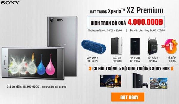 Bộ quà tặng hấp dẫn sẽ thuộc về bạn khi đặt trước điện thoại Sony Xperia XZ Premium