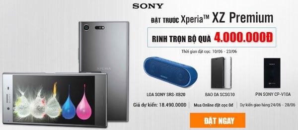 Bộ quà tặng giá trị khi bạn đặt trước điện thoại Xperia XZ Premium