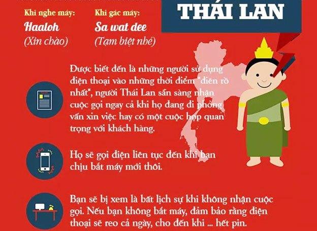 Người Thái Lan gọi điện thoại đến khi bạn bắt máy mới thôi