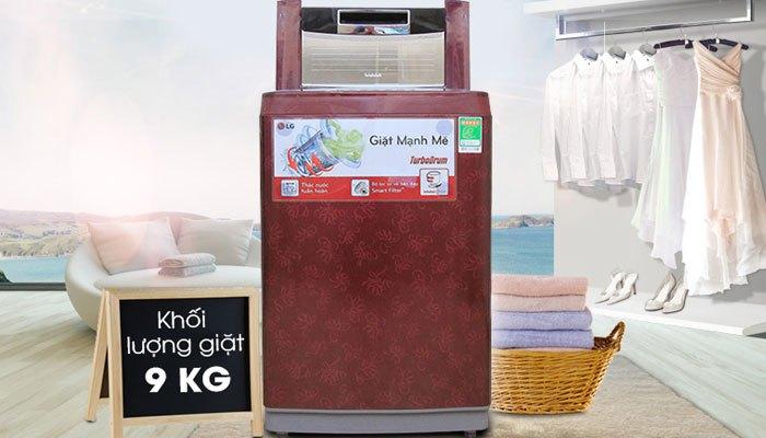 Thiết kế sang trọng, màu sắc nổi bật , máy giặt LG WF-S9019DR tôn lên nét hiện đại cho căn bếp nhà bạn