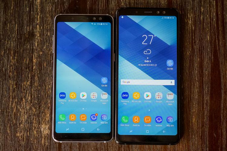 Màn hình tràn viền hiện đại chính là điểm nhấn của cả 2 chiếc điện thoại