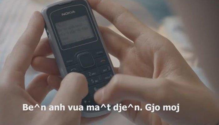 Chiếc điện thoại xưa làm bạn nhắn tin không dấu