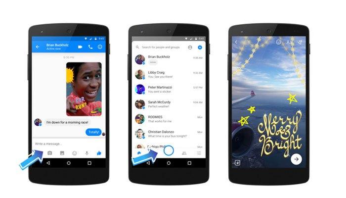 Facebook Messenger cho bạn quay phim và chụp hình trên điện thoại nhanh chóng hơn