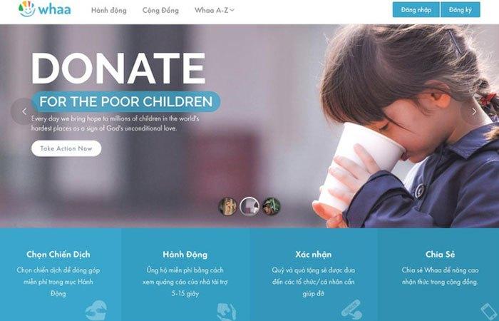 Whaa.Life là một ứng dụng làm từ thiện minh bạch bạn có thể sử dụng trên điện thoại hay máy tính